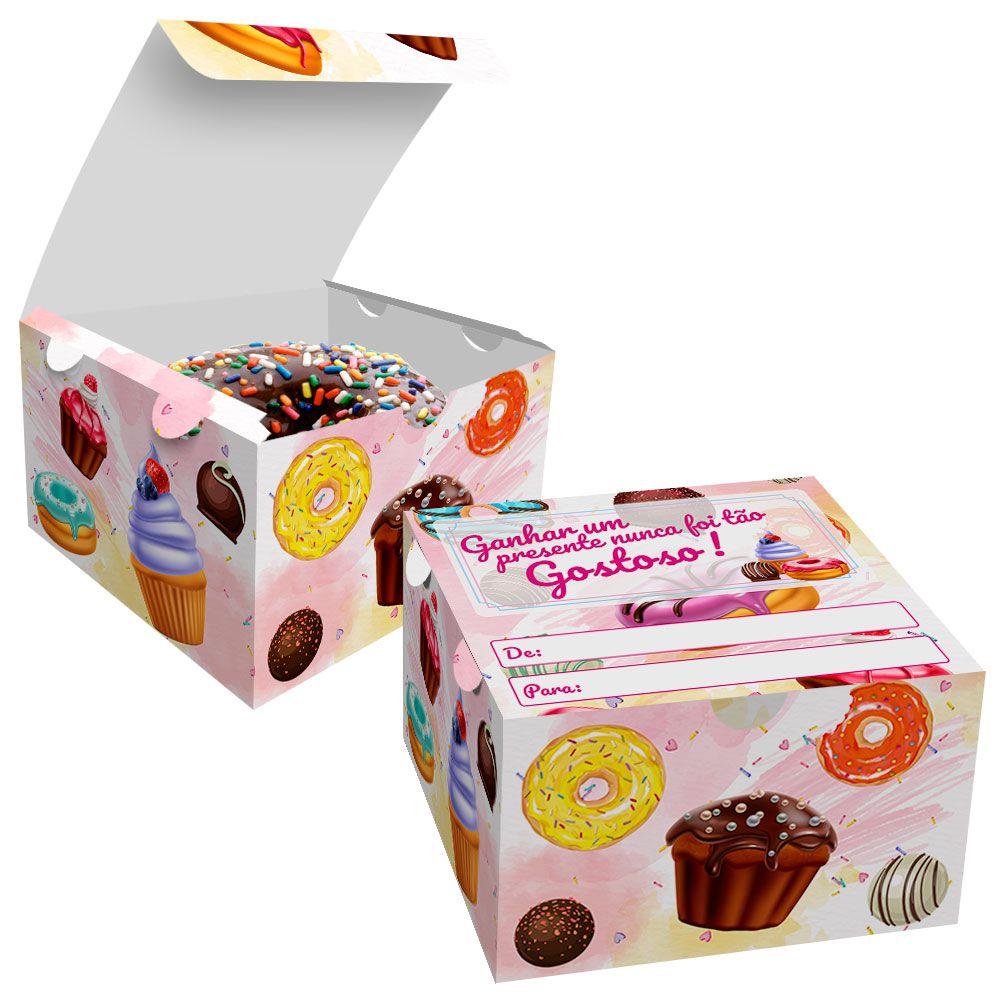 Caixa para Doces, Donuts e Rosquinhas - 100 unidades