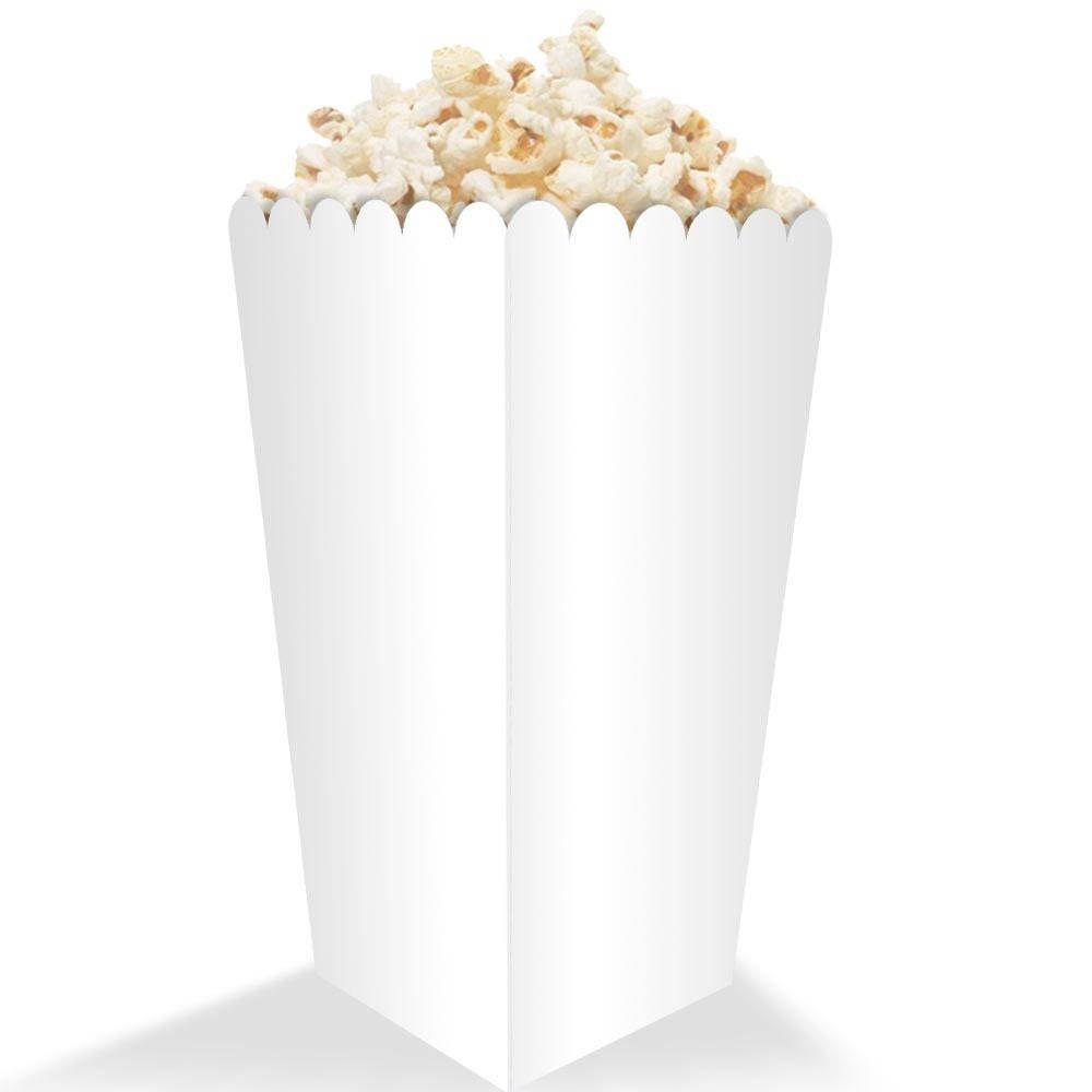 Caixinha de Pipoca Pequena – Branco ou Kraft – 100 Unidades