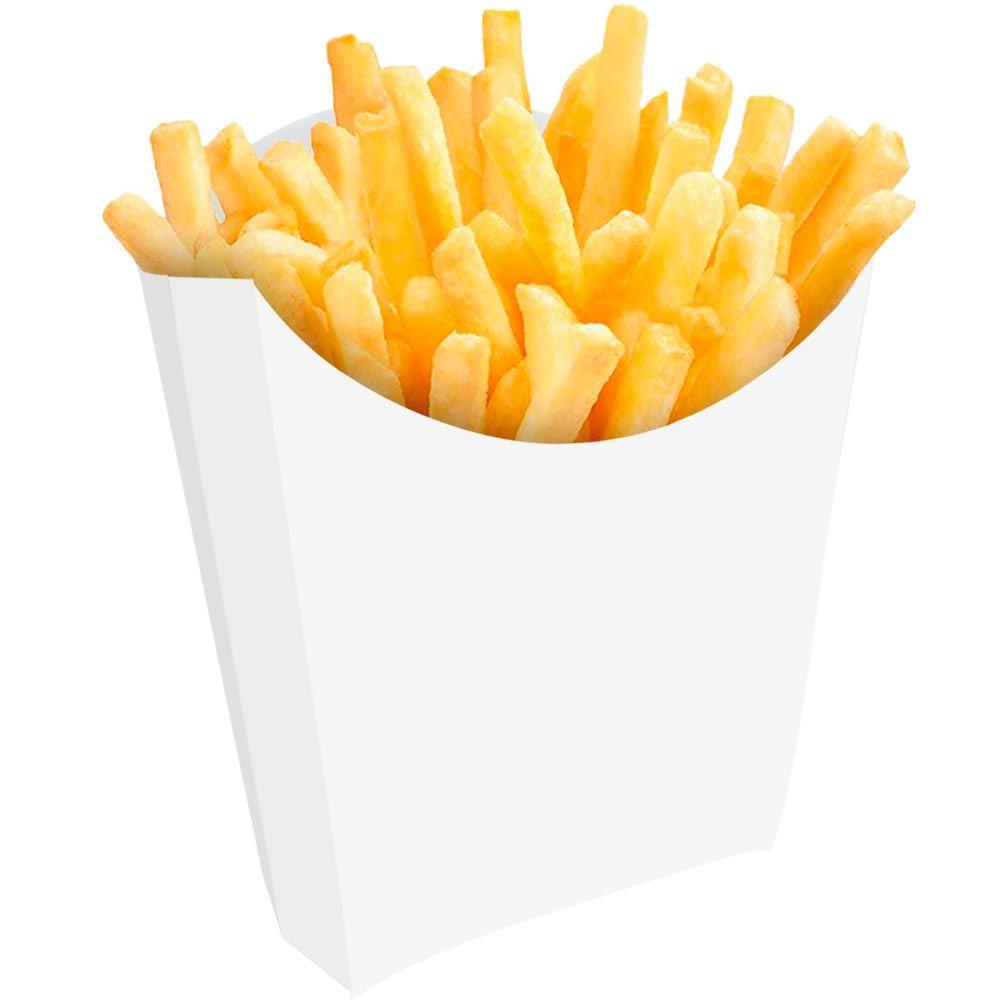 Caixinha | Embalagem para Batata Frita – Branco ou Kraft – 1000 Unidades