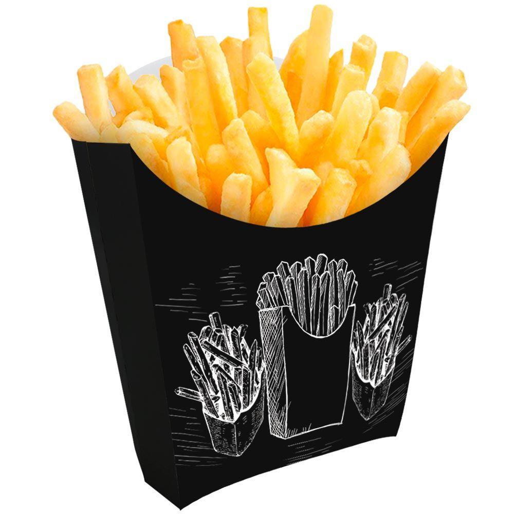 Caixinha | Embalagem para Batata Frita PRETO - 100 unidades