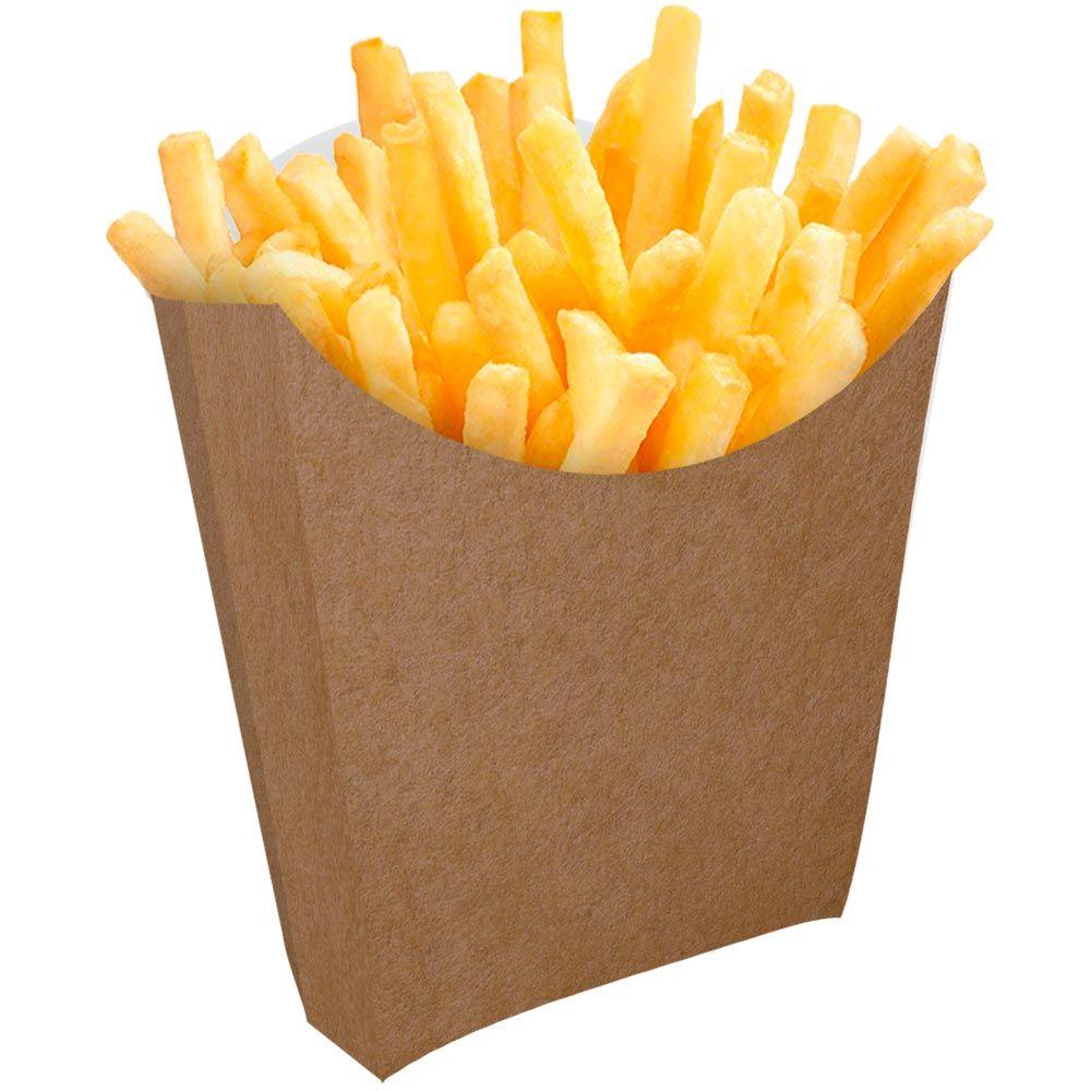 Caixinha | Embalagem para Batata Frita – Branco ou Kraft – 500 Unidades