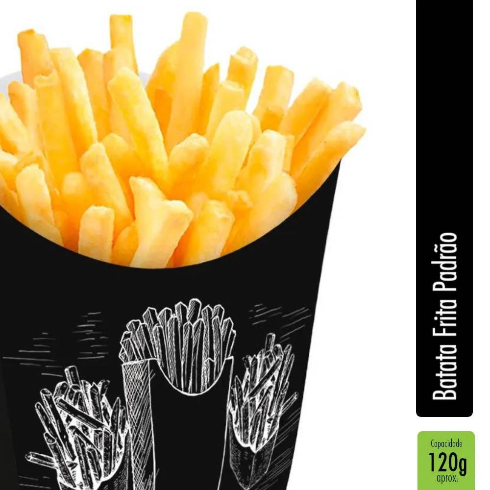 Caixinha | Embalagem para Batata Frita PRETO - 1000 unidades