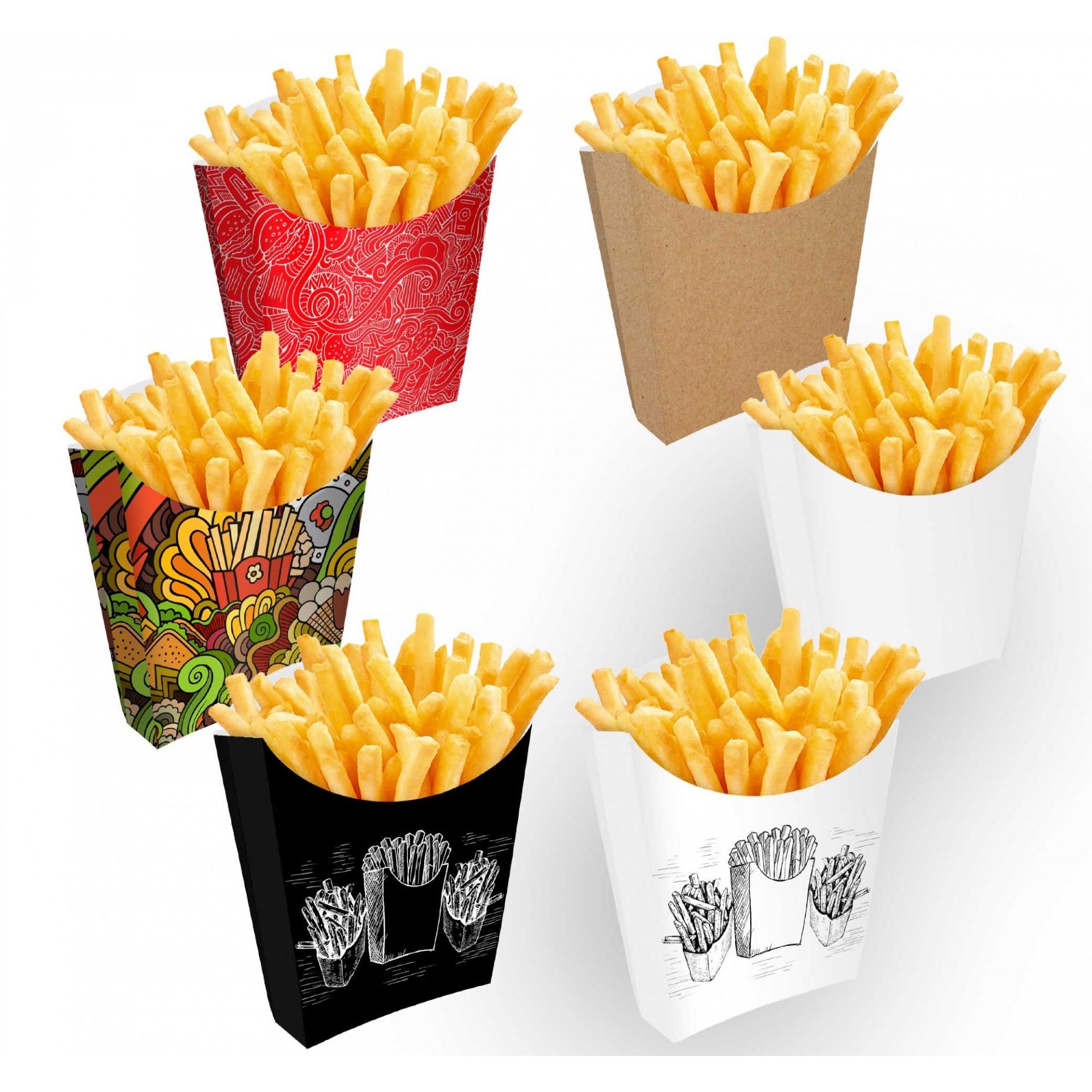 Caixinha | Embalagem para Batata Frita VÁRIAS CORES