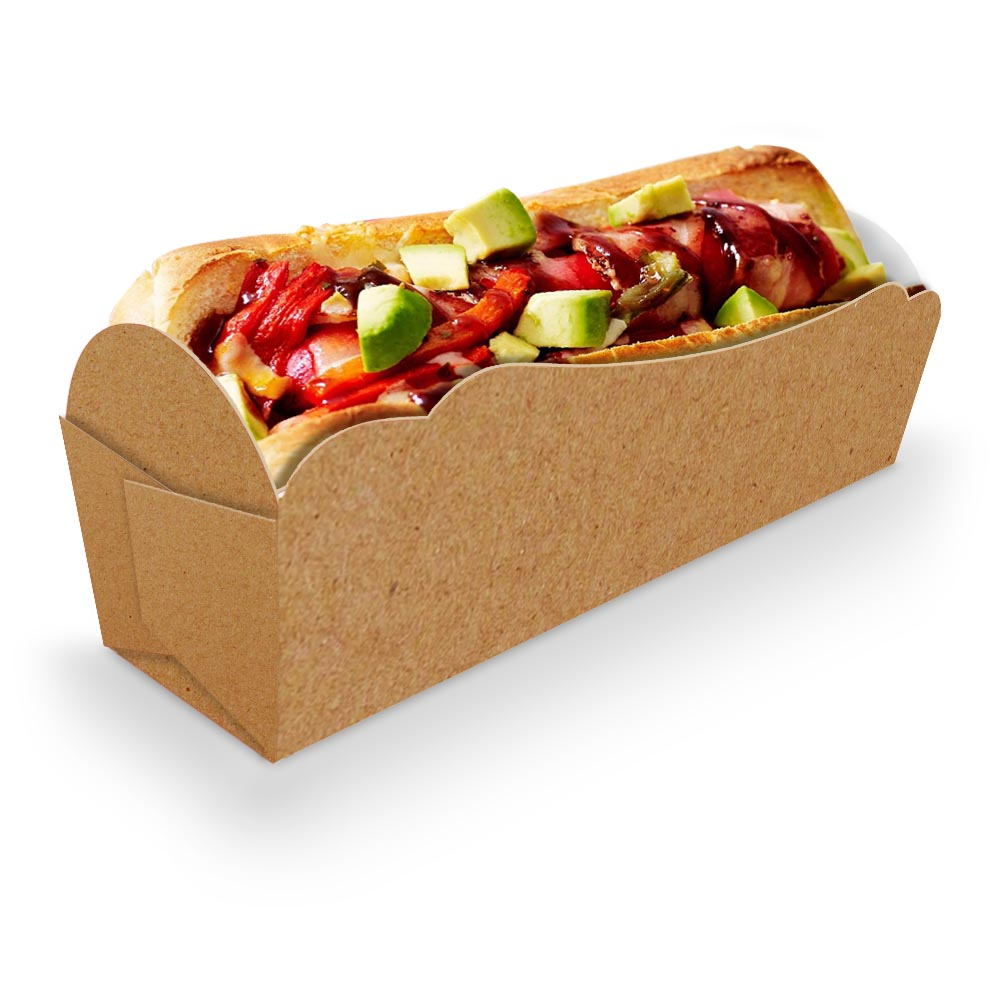 Caixinha | Embalagem para MINI Cachorro Quente KRAFT - 100 unidades