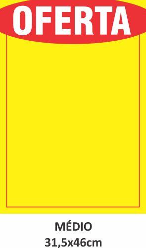 Cartaz de Ofertas e Promoções Médio 500 unidades