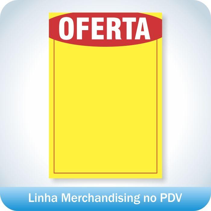 Cartaz de Ofertas e Promoções Pequeno 500 unidades