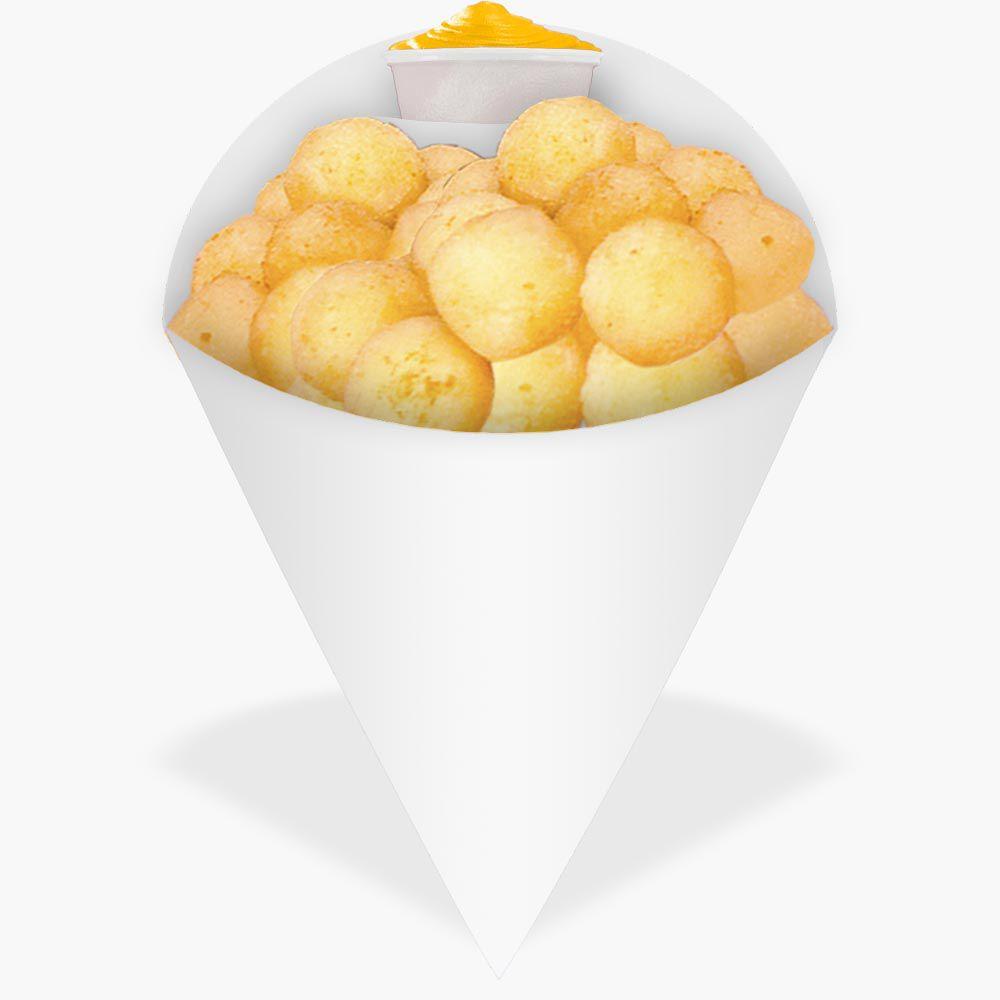 Cone | Embalagem Média para Batata Frita e Porções – Branco