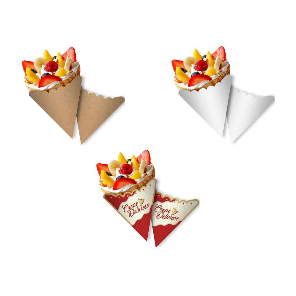 Cone | Embalagem para Crepe Francês VÁRIAS CORES - 100 unidades