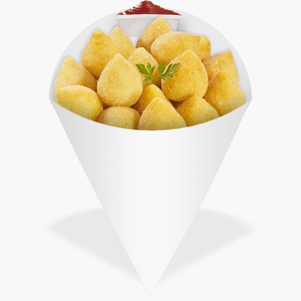 Cone | Embalagem para Batata Frita e Porções BRANCO PEQUENO - 100 unidades