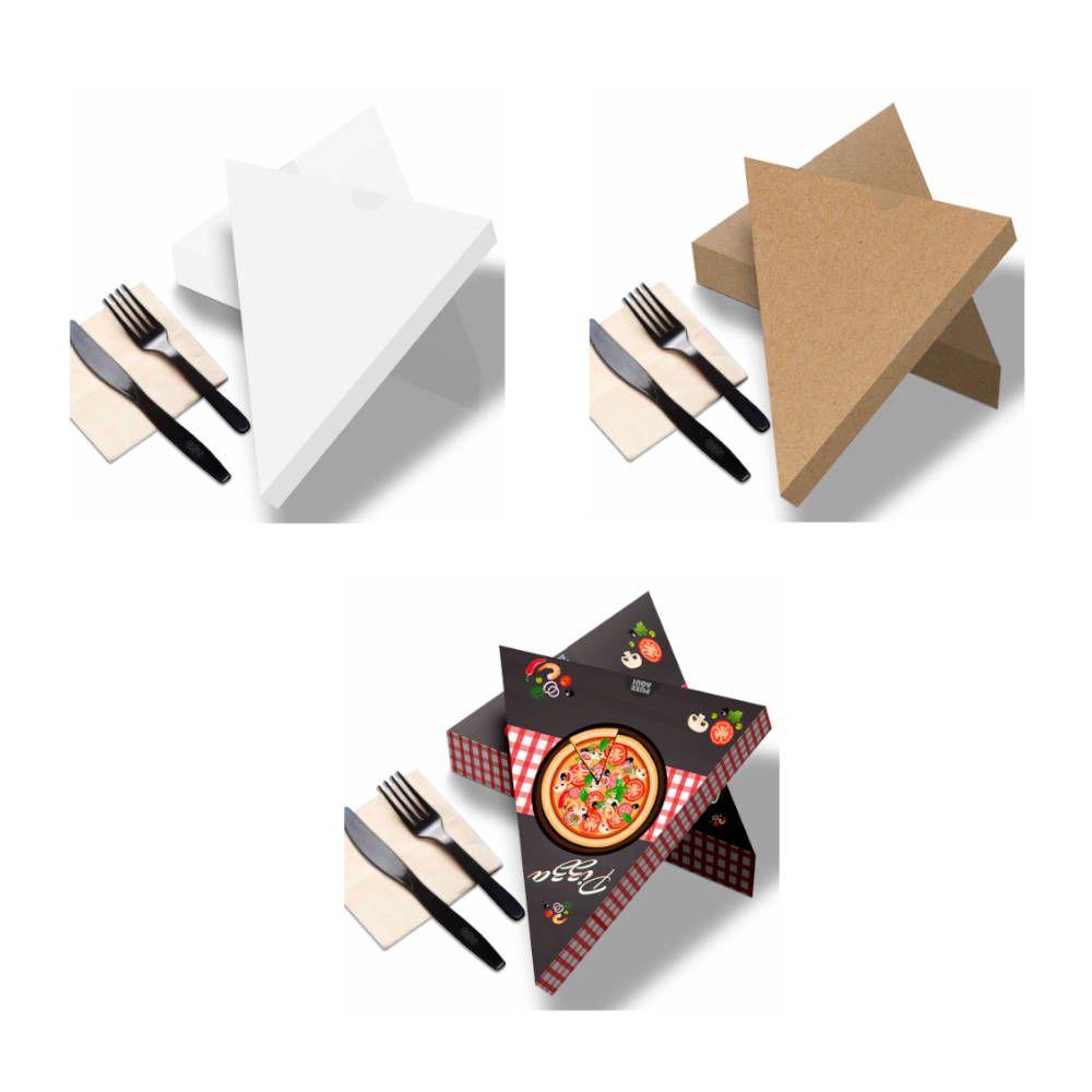 Delivery | Embalagem de Fatia de Pizza para Viagem VÁRIAS CORES ? 100 unidades