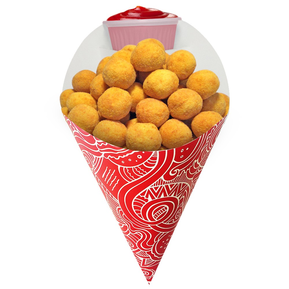Embalagem Cone para Porções Diversas Médio Vermelho 1.000 un