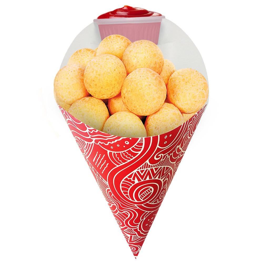 Embalagem Cone para Porções Diversas Médio Vermelho 500 un