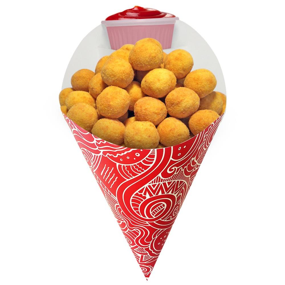Embalagem Cone para Porções Diversas Pequeno Vermelho 500 un