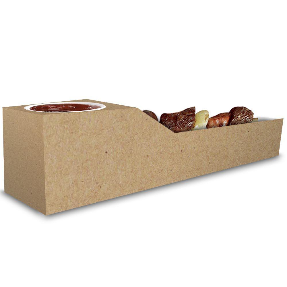 Caixa | Embalagem de Espetinho c/ Molho KRAFT - 100 Unidades