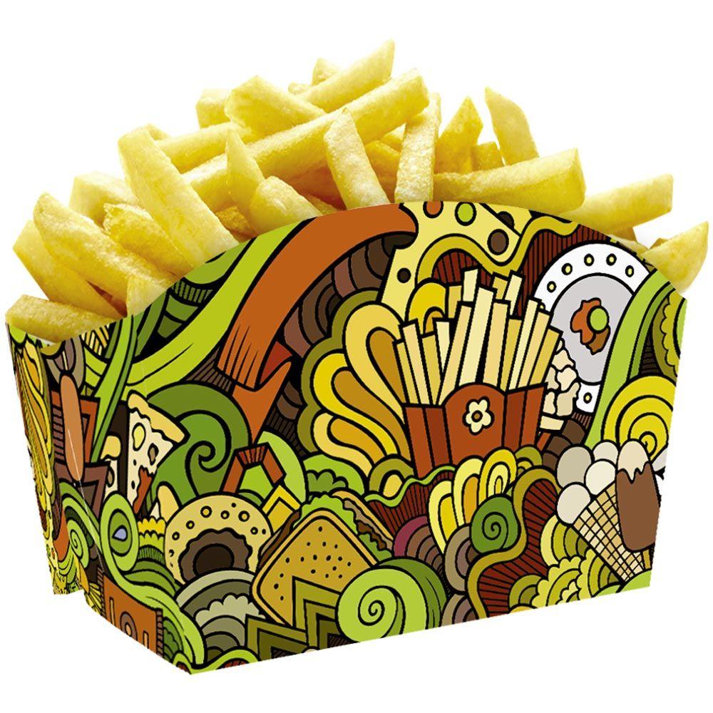 Embalagem para Batata-Frita ou Porções Diversas - 100 Unidades
