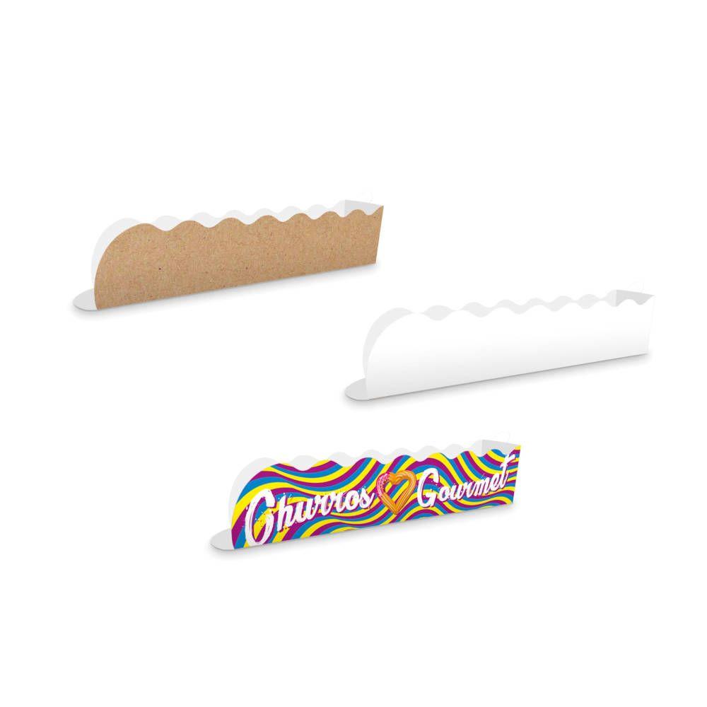 Embalagem para Churros Gourmet Ondulada - Várias Cores - 100 unidades
