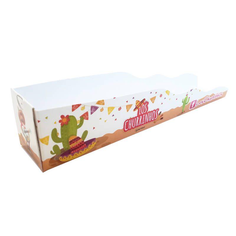 Embalagem Personalizada para Churros Gourmet - 1000 Unidades