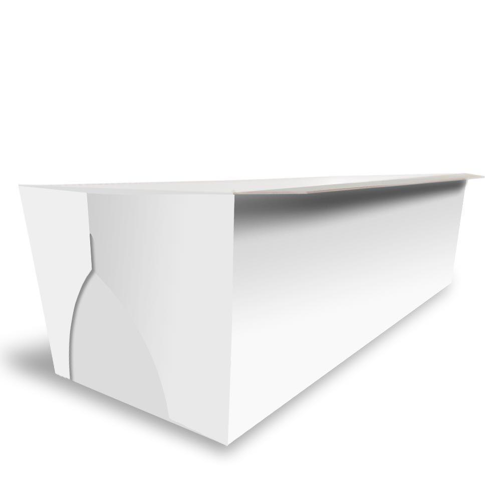Forma | Embalagem para Bolo Inglês Caseirinho s/ Tampa BRANCO - 100 Unidades