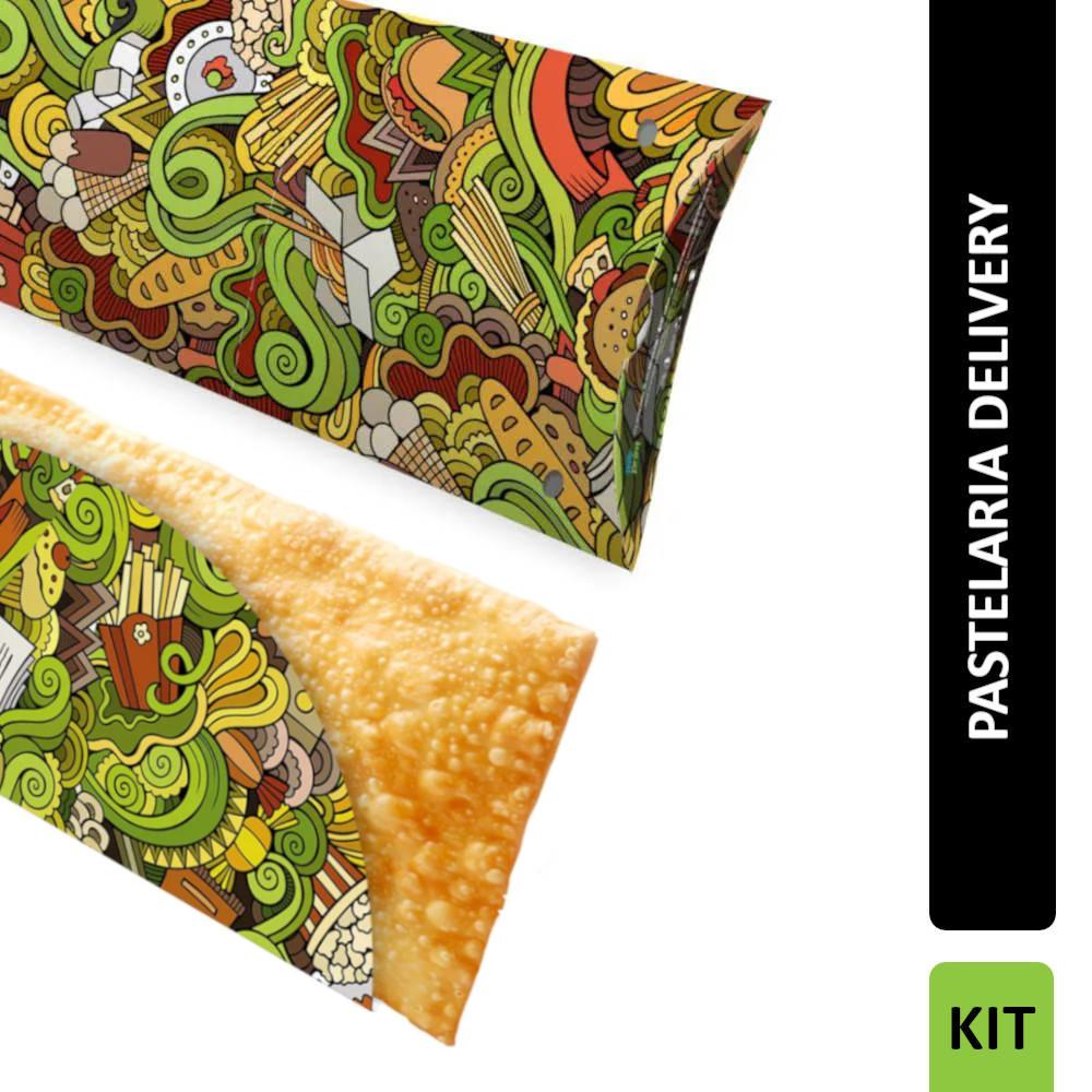 KIT 300 Embalagens de Pastel + 100 Caixas para Pastel Delivery
