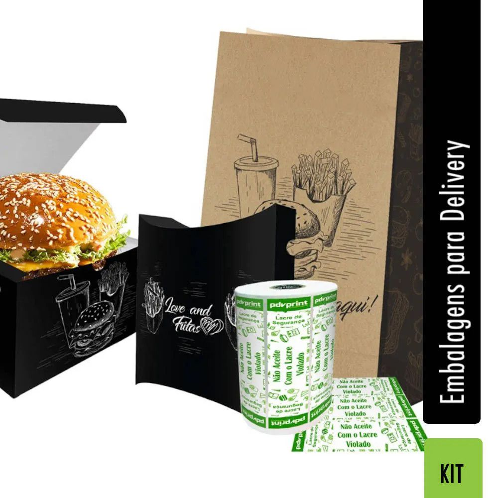 KIT Lanchonete e Hamburgueria Delivery