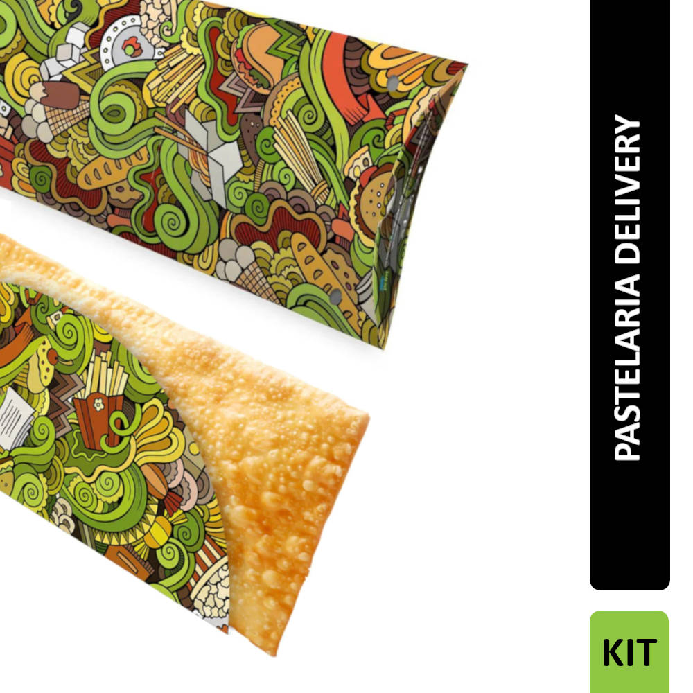 KIT Pastelaria Delivery VERDE 300 unidades