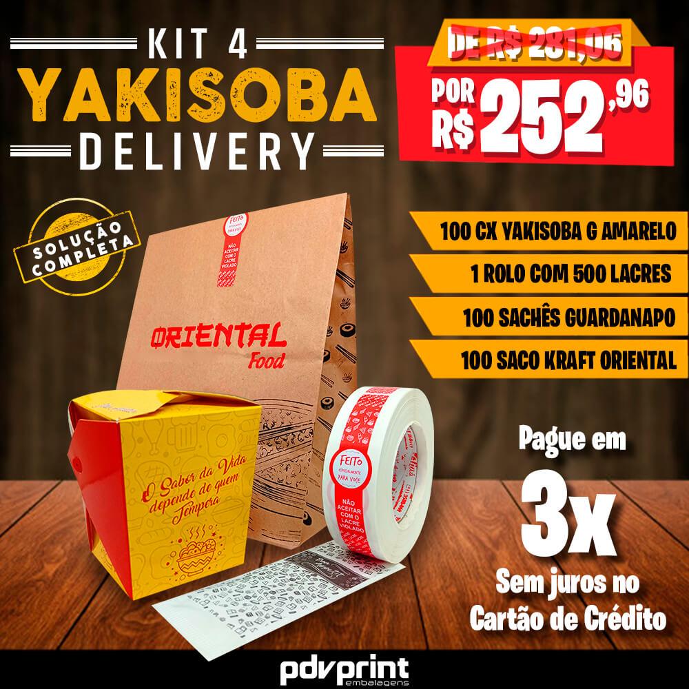 KIT Yakisoba Delivery AMARELO GRANDE