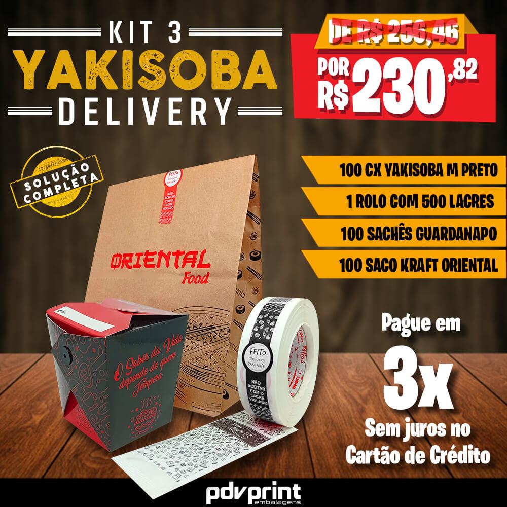 KIT Yakisoba Delivery PRETO MÉDIO