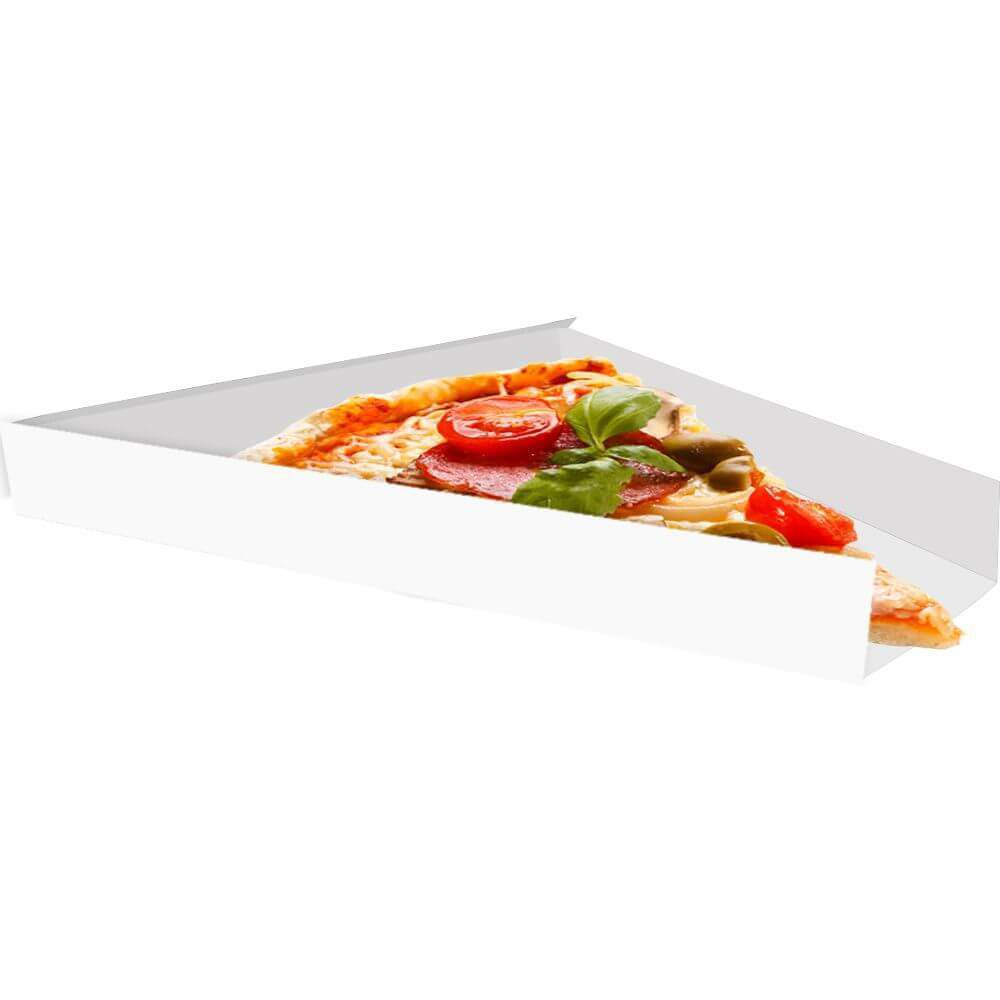 Suporte | Embalagem para Fatia de Pizza BRANCO - 100 unidades