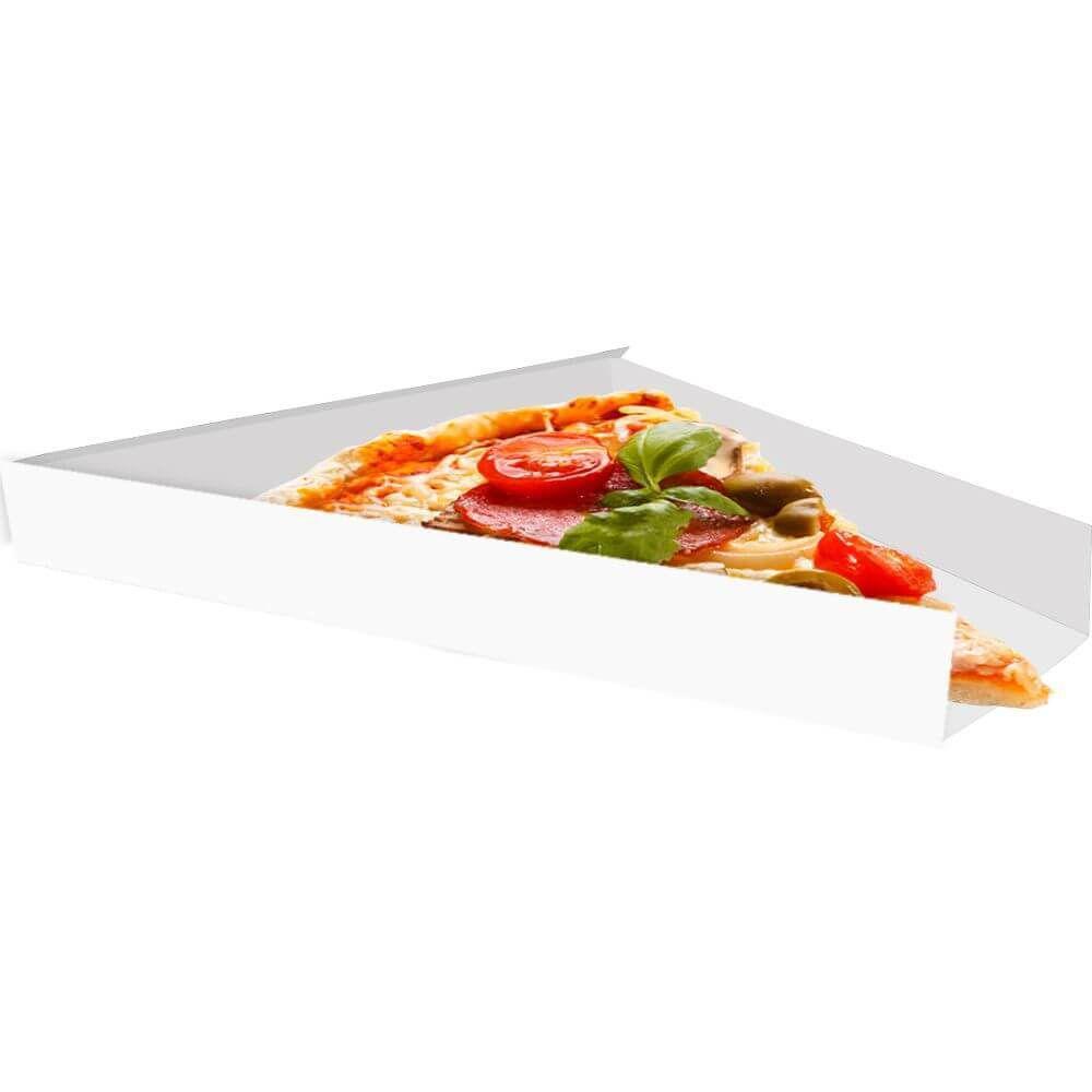 Suporte | Embalagem Para Fatia De Pizza - Branco ou Kraft - 500 Unidades