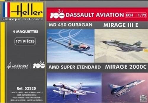 100 Anos da Dassault Aviation (4 modelos) - 1/72 - Heller 52320  - BLIMPS COMÉRCIO ELETRÔNICO