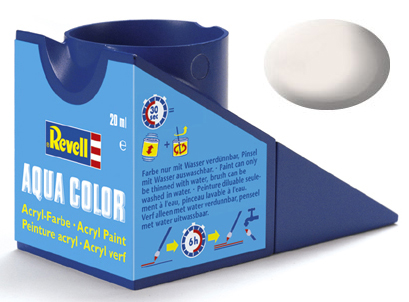 Tinta Acrílica Revell Aqua Color Branco Fosco - Revell 36105  - BLIMPS COMÉRCIO ELETRÔNICO