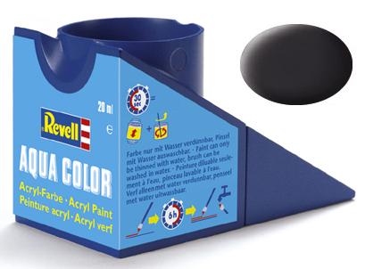 Tinta Acrílica Revell Aqua Color Preto Piche Fosco - Revell 36106  - BLIMPS COMÉRCIO ELETRÔNICO