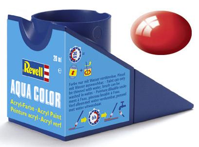 Tinta Acrílica Revell Aqua Color Vermelho Brilhante - Revell 36131  - BLIMPS COMÉRCIO ELETRÔNICO
