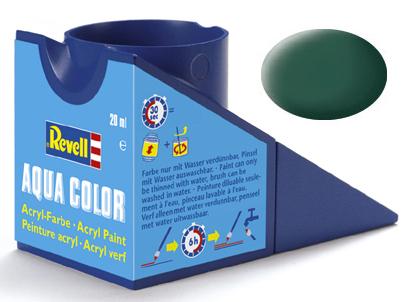 Tinta Acrílica Revell Aqua Color Verde Escuro Fosco - Revell 36139  - BLIMPS COMÉRCIO ELETRÔNICO