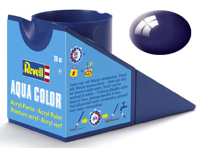 Tinta Acrílica Revell Aqua Color Azul Noite Brilhante - Revell 36154  - BLIMPS COMÉRCIO ELETRÔNICO