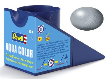 Tinta Acrílica Revell Aqua Color Prata - Revell 36190  - BLIMPS COMÉRCIO ELETRÔNICO