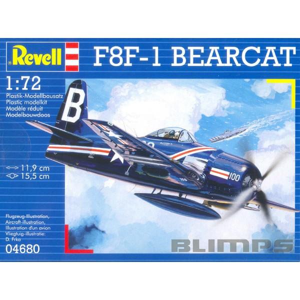 Grumman F8F-1 Bearcat - 1/72 - Revell 04680  - BLIMPS COMÉRCIO ELETRÔNICO