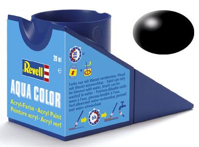 Tinta Acrílica Revell Aqua Color Preto Seda - Revell 36302  - BLIMPS COMÉRCIO ELETRÔNICO