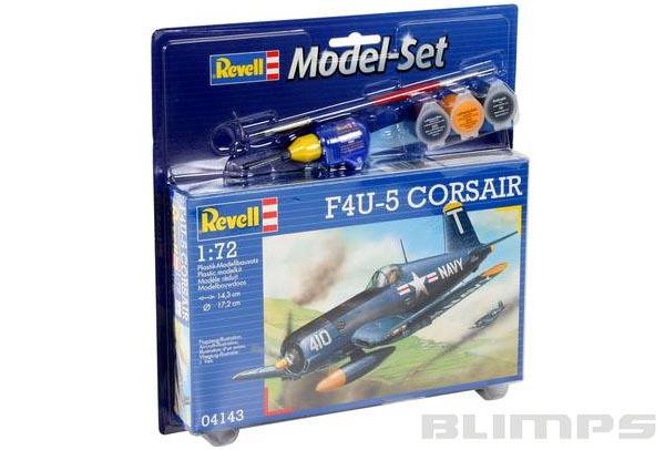 Model-Set F4U-5 Corsair - 1/72 - Revell 64143  - BLIMPS COMÉRCIO ELETRÔNICO