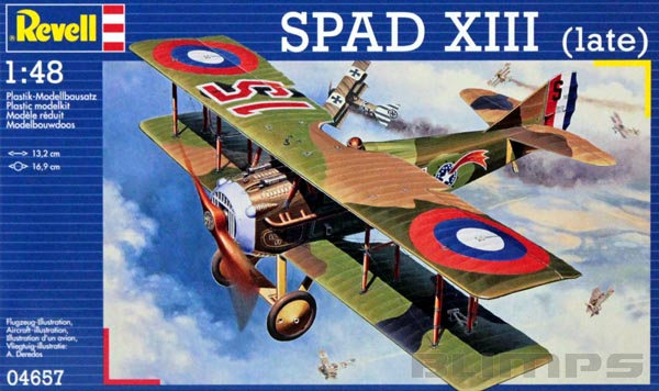 Spad XIII (Late Version) - 1/48 - Revell 04657  - BLIMPS COMÉRCIO ELETRÔNICO