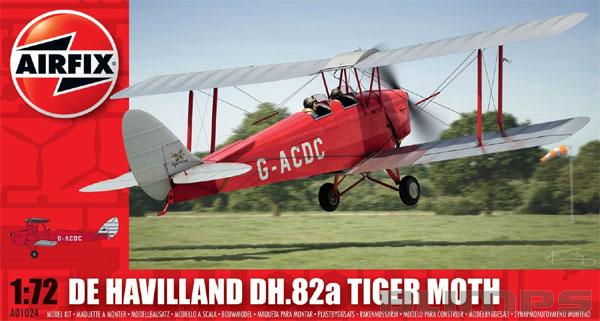 De Havilland DH.82a Tiger Moth - 1/72 - Airfix A01024  - BLIMPS COMÉRCIO ELETRÔNICO