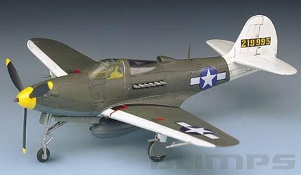 Bell P-39Q/N Airacobra - 1/72 - Academy 12494  - BLIMPS COMÉRCIO ELETRÔNICO
