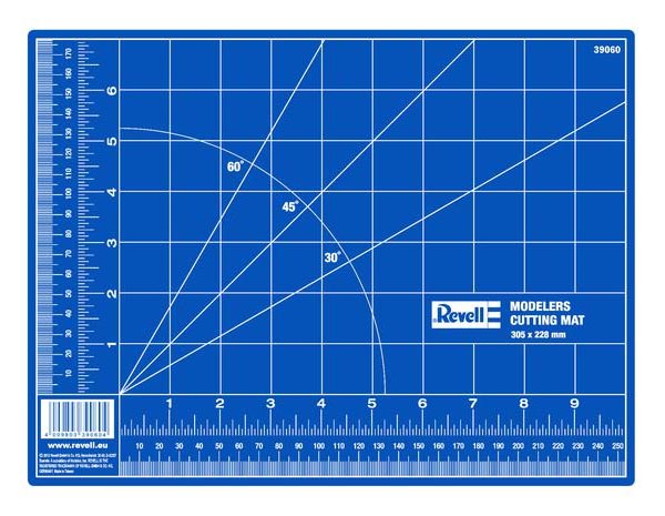 Placa de corte autorreparável - 305 x 228 mm - Revell 39060  - BLIMPS COMÉRCIO ELETRÔNICO
