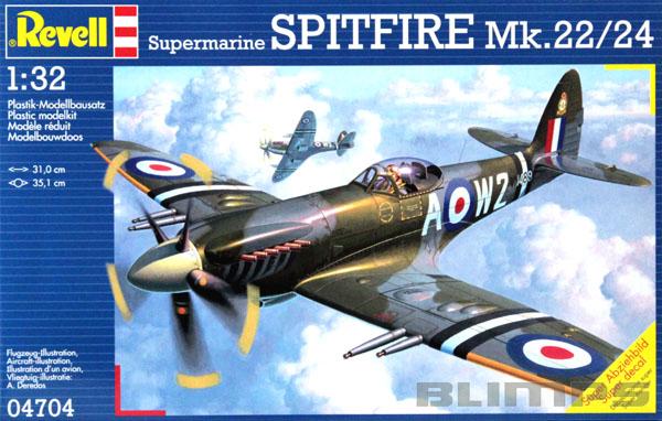 Supermarine Spitfire Mk.22/24 - 1/32 - Revell 04704  - BLIMPS COMÉRCIO ELETRÔNICO