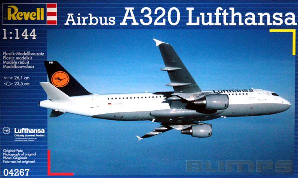 Airbus A320 Lufthansa - 1/144 - Revell 04267  - BLIMPS COMÉRCIO ELETRÔNICO