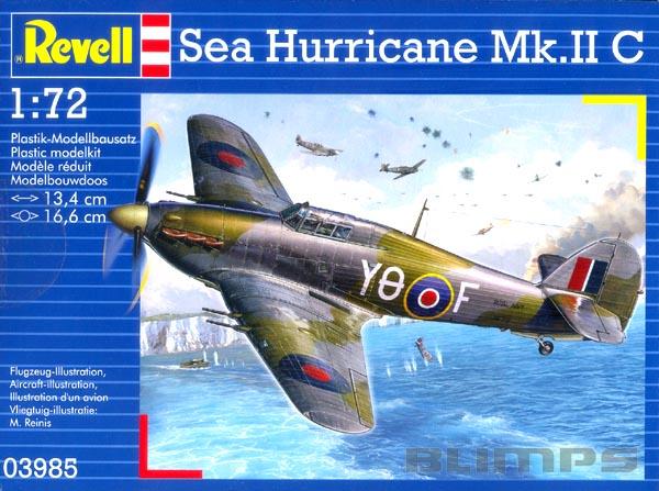 Hawker Sea Hurricane Mk.II C - 1/72 - Revell 03985  - BLIMPS COMÉRCIO ELETRÔNICO