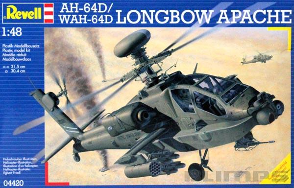 AH-64D/WAH-64D Longbow Apache - 1/48 - Revell 04420  - BLIMPS COMÉRCIO ELETRÔNICO