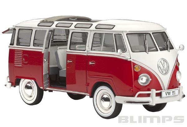 "Kombi Volkswagen T1 ""Samba Bus"" - 1/24 - Revell 07399  - BLIMPS COMÉRCIO ELETRÔNICO"