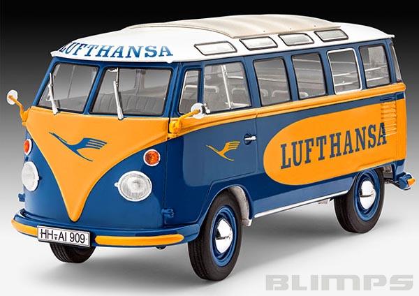 "Kombi Volkswagen T1 ""Samba Bus"" Lufthansa - 1/24 - Revell 07436  - BLIMPS COMÉRCIO ELETRÔNICO"