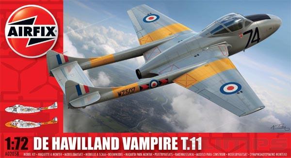 De Havilland Vampire T.11 - 1/72 - Airfix A02058  - BLIMPS COMÉRCIO ELETRÔNICO